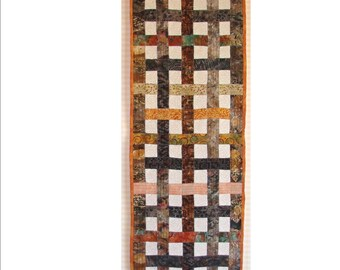"""DREAM WEAVER,  17 3/4"""" x 56"""" quilted table runner"""