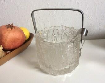 Hoya glass Japan 70s solid glass ice bucket  cool design