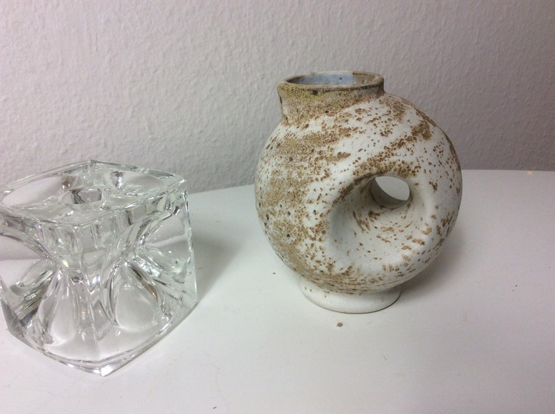 Beautiful round vase with hole by Vest Keramiek dutch ceramics image 0