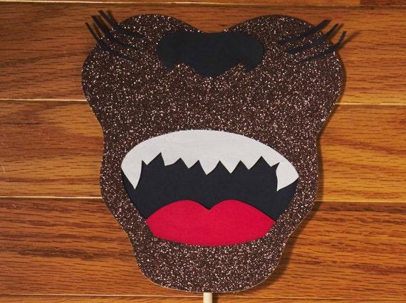 werewolf photo booth prop glitter photo prop halloween