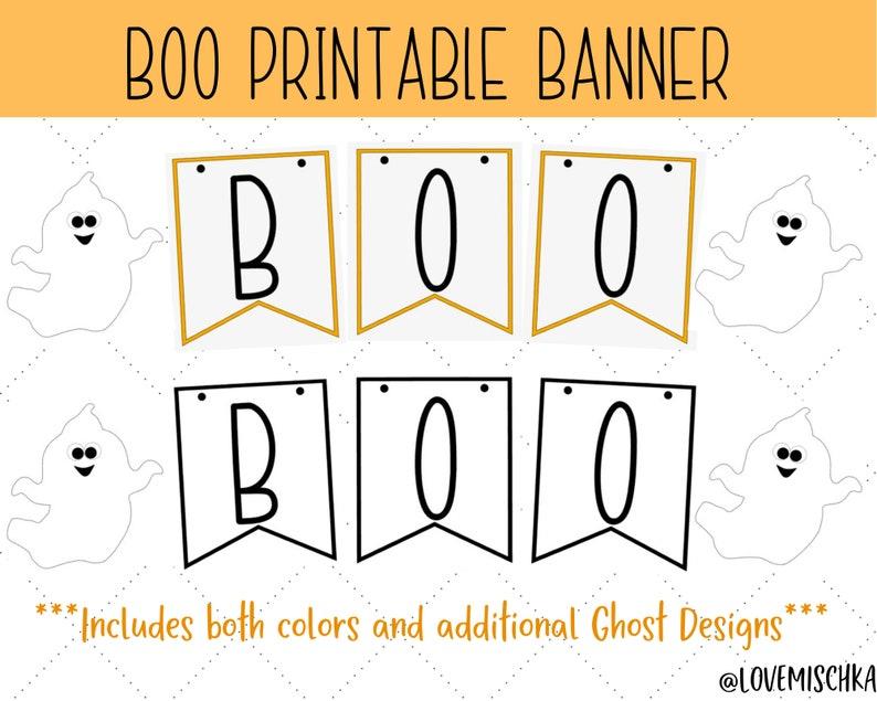 Halloween Banner Printable  Instant Download Halloween Decor image 1