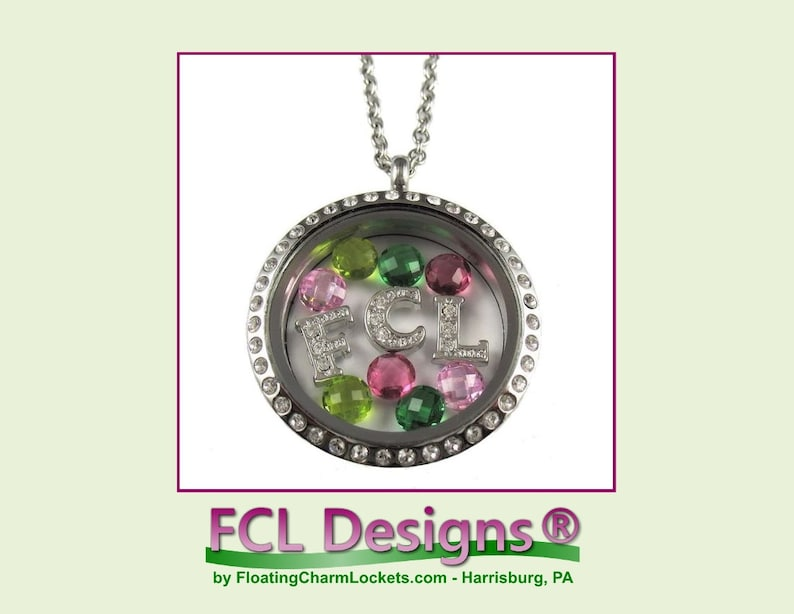 Baby Girl Theme Floating Charm Locket or Floating Charm Combination by FCL Designs\u00ae