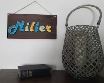 String art personalised name