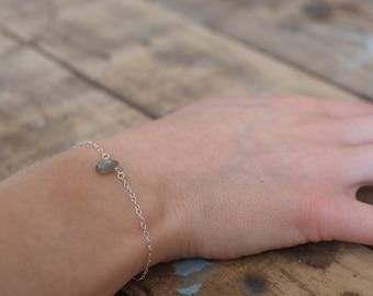 Labradorite bracelet, sterling silver gemstone bracelet, boho bracelet, dainty gemstone bracelet, So You Jewellery