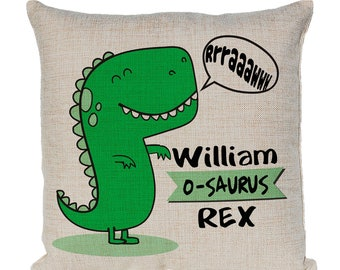 Kids Dinosaur Shape Pillowcase – Green