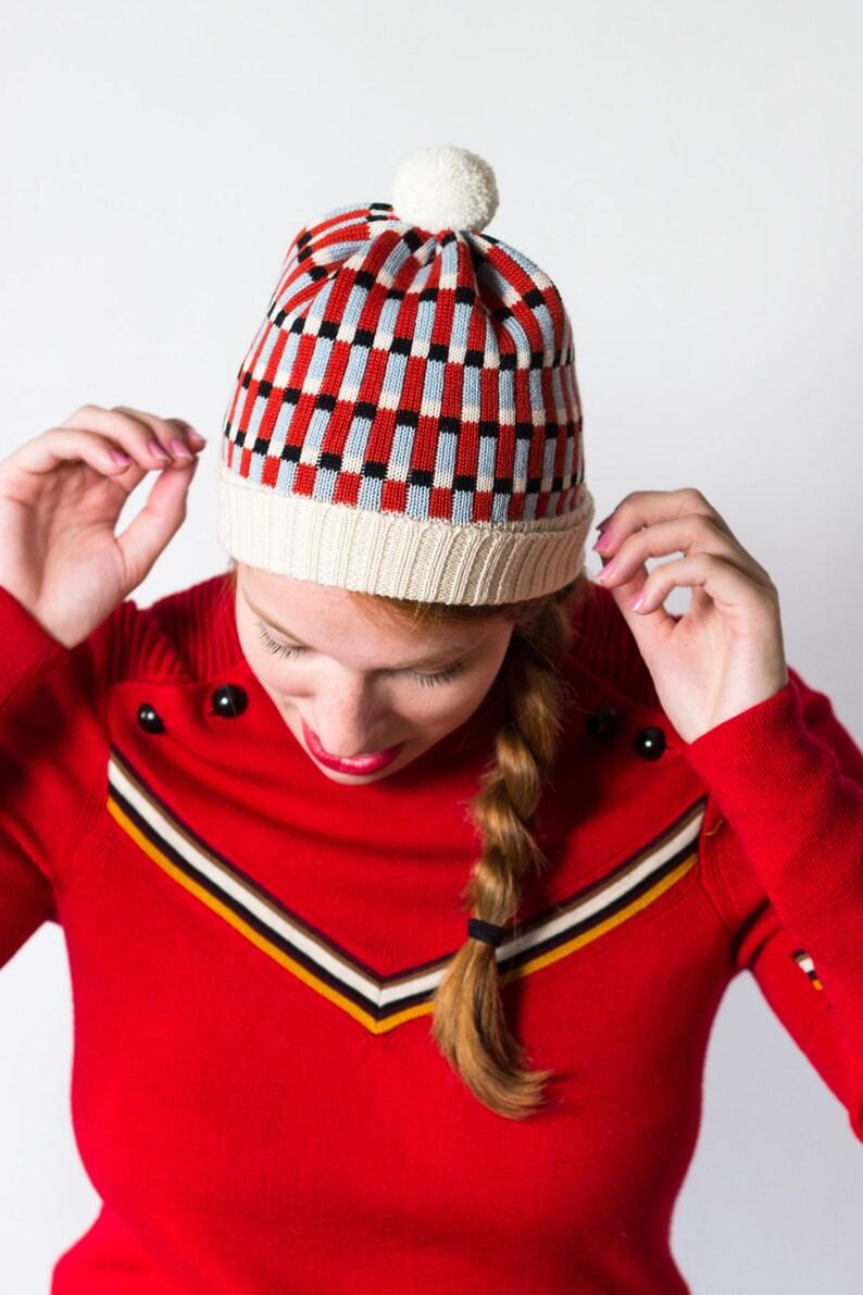41936702fd9 Knit Hat Polly Multi-color stripe winter hat made of merino