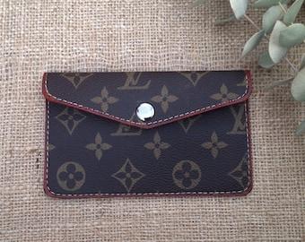 Repurposed Authentic Louis Vuitton Canvas Card Wallet d9bce3b19652a