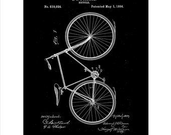 Bicycle Patent, Bicycle Set of Thirteen Colours, Bicycle Invention Patent, Bicycle Poster, Bicycle Print, Bicycle Inventions PDF