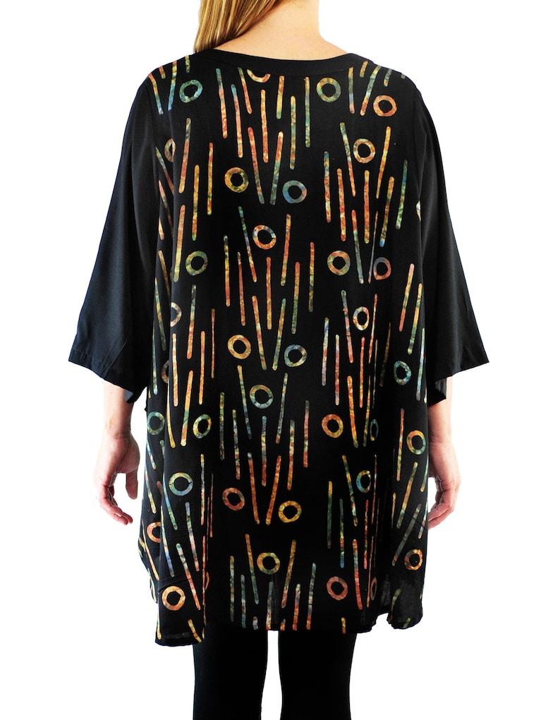 WeBeBop Women/'s Plus Size Bromo Black COMBO Artist Pocket Swing Top 0X 1X 2X 3X 4X 5X 6X