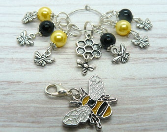 Honey Bee Stitch Markers Crochet Markers, Knitting Accessories, Knitting Gifts, Crochet Gifts, Gift For Knitters, Gift For Crocheter