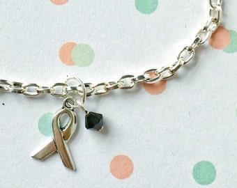 Melanoma Awareness Bracelet, Black Awareness Bracelet, Melanoma Skin Cancer Bracelet, Melanoma Black, Skin Cancer Awareness, Skin Cancer