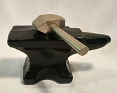 Vintage Avon Blacksmith s Anvil Deep Woods Aftershave Decanter - Not Empty - No Box - Collectible