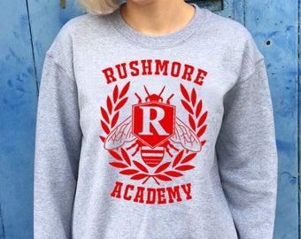 Rushmore Academy, Varsity Design | Grey Sweatshirt/Jumper