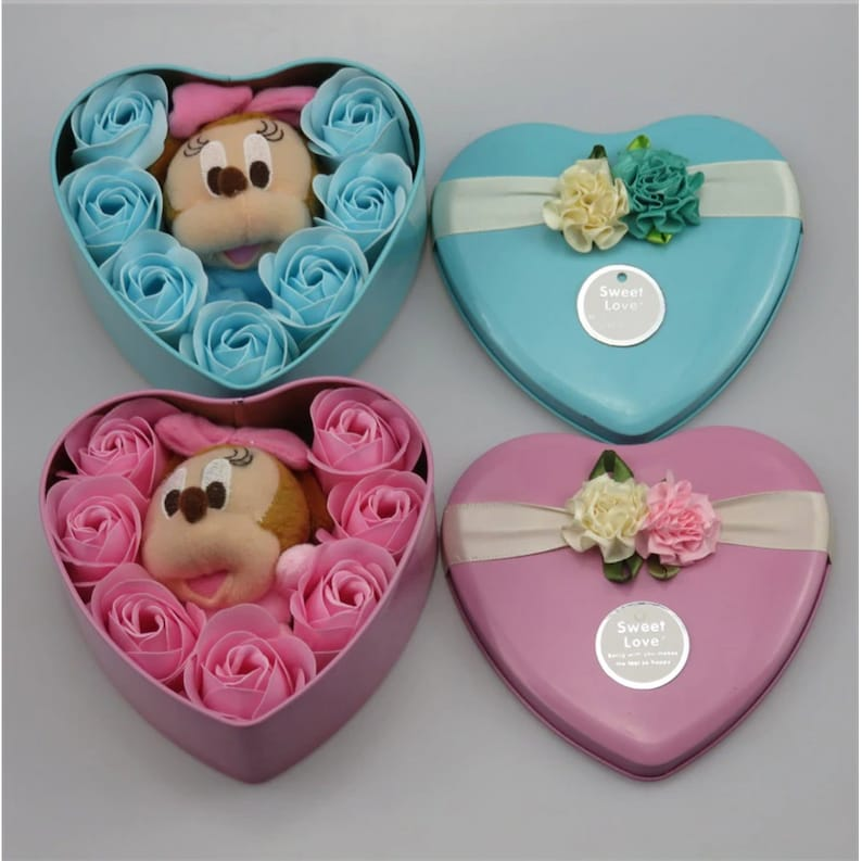 Disney Inspired lovely Mickey Mouse and Minnie Mouse plush Blue