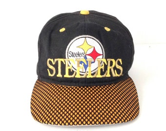 vintage 90s PITTSBURGH STEELERS mid 90s super bowl vintage 90s NFL football  baseball snapback cap hat bd774e56be6d