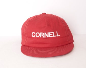 9f9ef36afe61a4 vintage CORNELL university RED & white 1980s faded vintage baseball  snapback cap