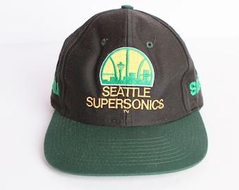 vintage SEATTLE SUPERSONICS original cap Sonics hat Gary Payton Shawn Kemp slam dunk seattle washington state