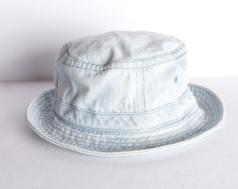 643910f5faa4d vintage DENIM bucket hat mid 90s y2k faded blue denim bucket hat