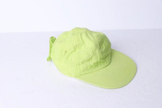 vintage NEON green elastic back BOW 1990s neon ba… - image 5