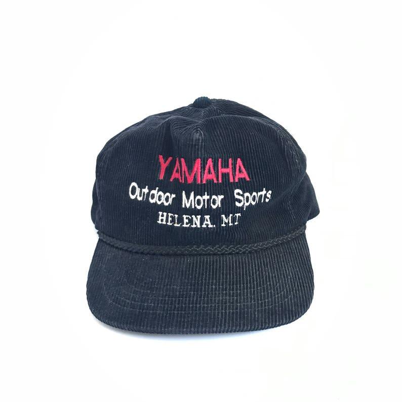 vintage YAMAHA dad hat HELENA MONTANA black 80s 90s outdoor  17d87974057