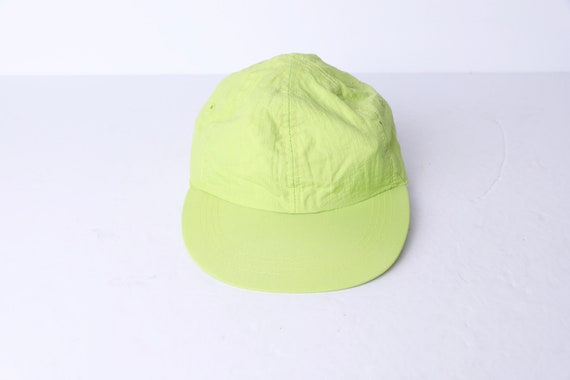 vintage NEON green elastic back BOW 1990s neon ba… - image 1