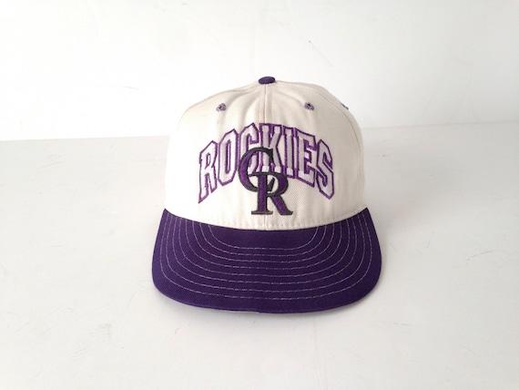 c345263e457 vintage COLORADO ROCKIES baseball hat color block vintage 90s