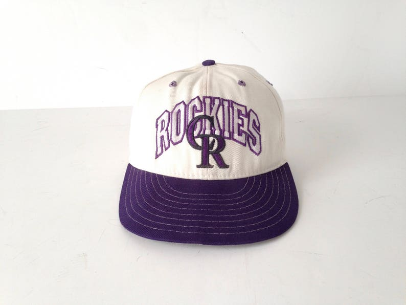 26d9de52a vintage COLORADO ROCKIES baseball hat color block vintage 90s | Etsy