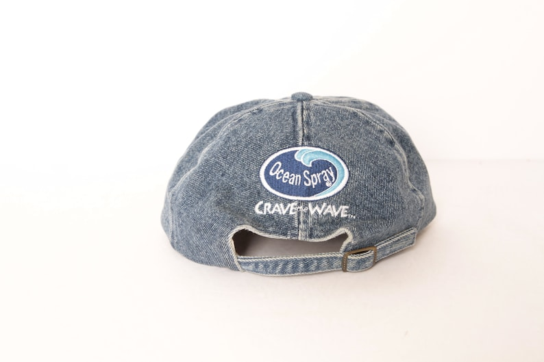 13ae1628 REEBOK vintage DENIM & cream two tone BASEBALL hat vintage cotton 90s cap