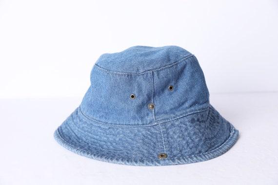 vintage BLUE denim bucket hat mid 90s y2k bucket h