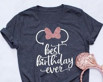Best Birthday Ever Disney Shirt Minnie Rose Gold A0002