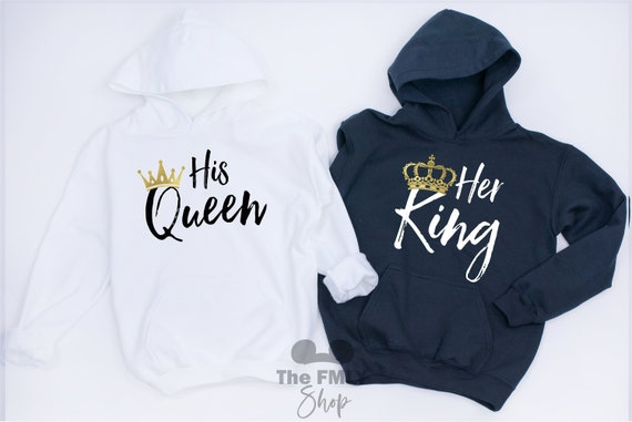 130a48c817e Her King His Queen Couple Hoodies Couple Shirts King Queen