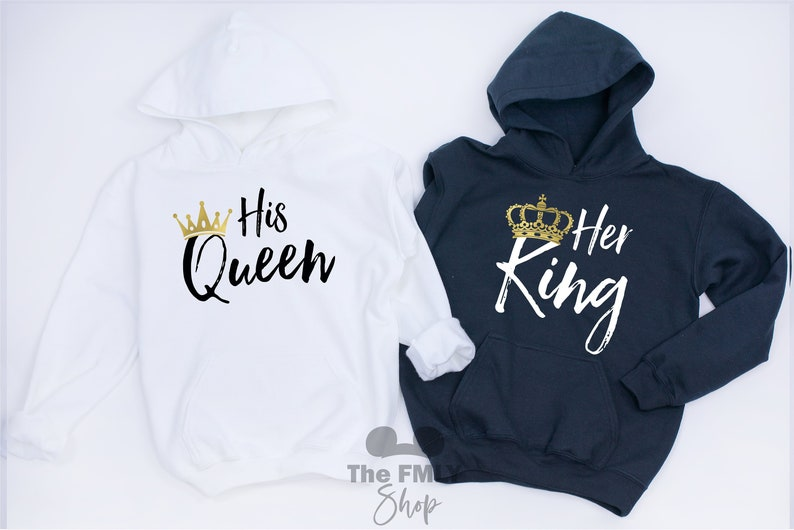 fb9d4bd8d53 Her King His Queen Couple Hoodies Couple Shirts King Queen