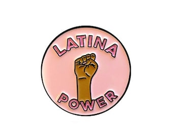 Latina Power Enamel Lapel Pin