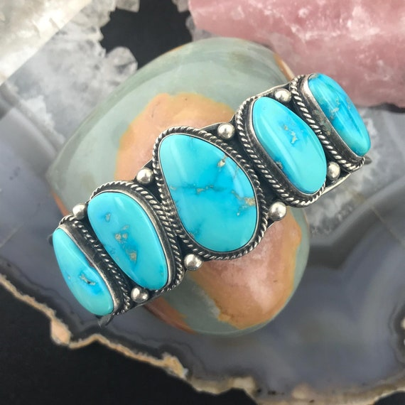 Navajo Indian Jewelry Sterling Silver Lapis Ring Size 5 by Cadman