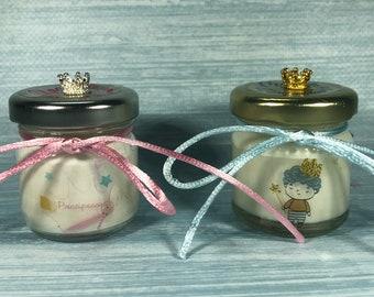 Principe o Principessa 10 o più mini candele segnaposto bomboniera nascita battesimo baby shower