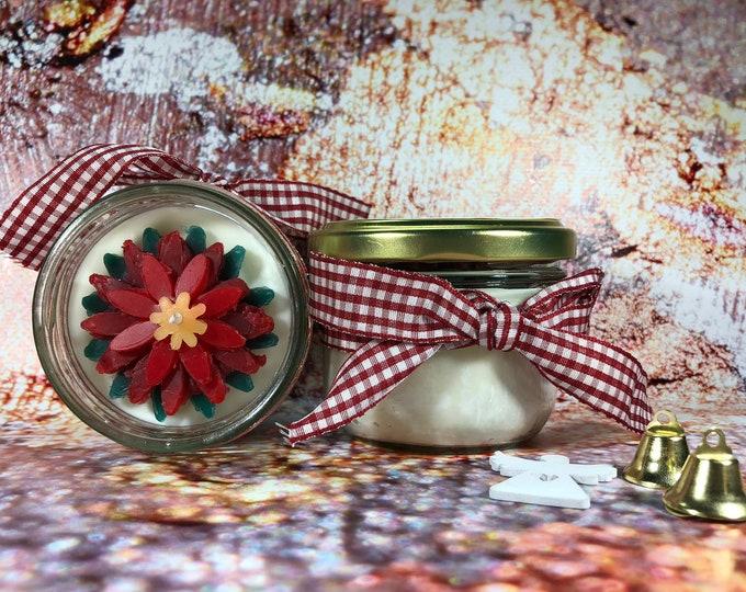 Candela con Stella di Natale ai profumi natalizi di cera di soia e oli essenziali Buon Natale Regalo di Natale