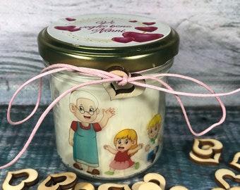 Regalo per i Nonni - Candela in cera di soia e oli essenziali personalizzata con dedica – Festa dei Nonni – Vi voglio bene Nonni