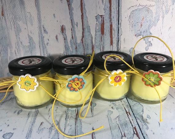4 minicandele antizanzare alla citronella in cera di soia olio essenziale casa giardino segnaposto festa estiva giardino repellente insetti