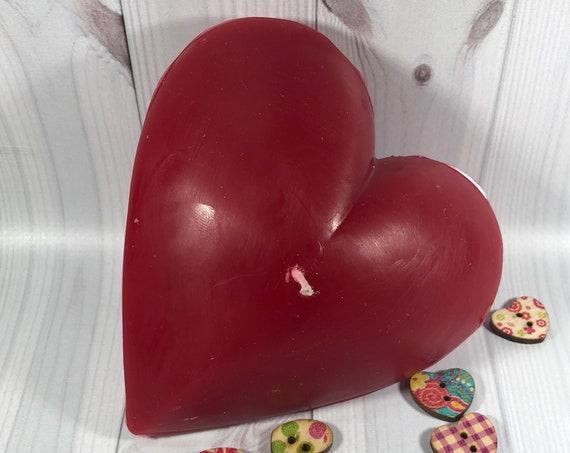 Candela rossa a forma di cuore - idea regalo San Valentino Anniversario Fidanzamento Proposta di matrimonio