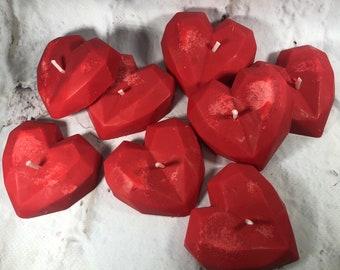 8 candeline a forma di cuore in cera di soia e oli essenziali piccoli regali pensierini per i clienti regalini fine festa san valentino