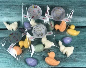 Buona Pasqua 10 bustine con 2 cialdine profumate soggetti pasquali regalino segnaposto omaggio pasquale clienti