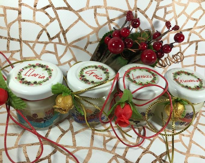 4 mini candele profumi speziati natalizi segnaposto capodanno in vasetto personalizzato Decorazione tavola natalizia ricordo per gli ospiti