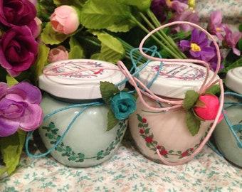 Decorazioni floreali 2 vasetti con candele di cera di soia e oli essenziali Idea Regalo per moglie fidanzata sorella amica