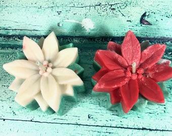 Candela natalizia profumata stella di Natale in cera di soia e oli essenziali – Idea regalo natalizia - Decorazione casa