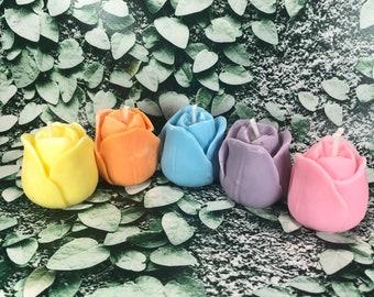 Tulipano Candelina in cera di soia e olio essenziale segnaposto regalino decorazione colore e profumo a scelta