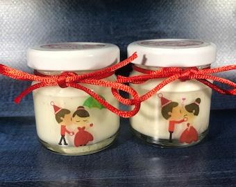 10 o più mini candele segnaposto matrimonio natalizio nozze a Natale personalizzate con nomi e data bomboniera matrimonio segnaposto nozze
