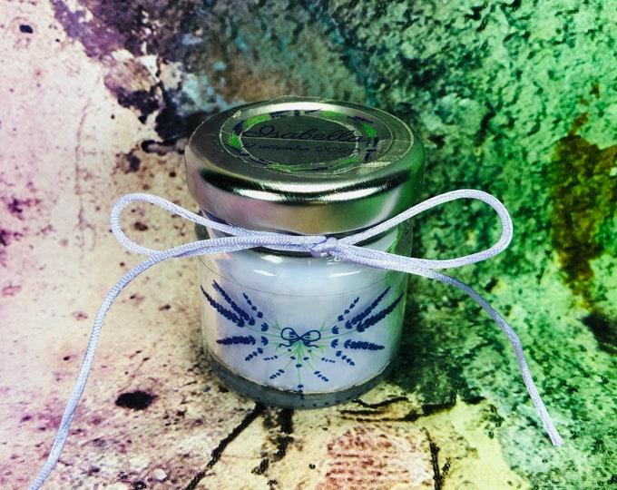 Lavanda 5 mini candele profumo di lavanda in vasetto con tappo personalizzato Segnaposto matrimonio comunione battesimo regali fine festa
