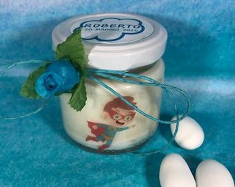 Piccoli Supereroi Bomboniere per Comunione o Cresima 25 candele di cera di soia per maschi o femmine Bomboniera Segnaposto ricordo ospiti