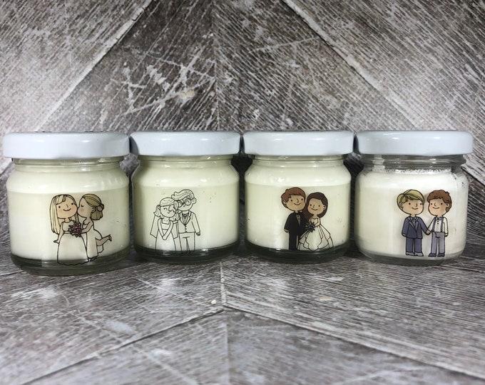 10 o più mini candele segnaposto matrimonio unioni civili personalizzate con nomi e data bomboniera matrimonio segnaposto nozze