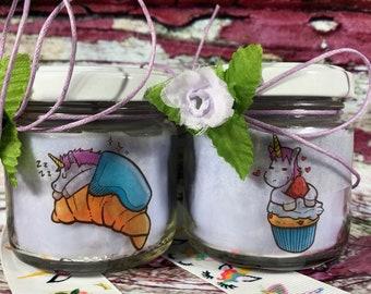 Unicorni 2 candele di cera di soia e oli essenziali - idea regalo per compleanno anniversario per la mamma la nonna la zia